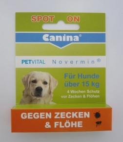 Canina Petvital Novermin für große Hunde über 15 kg 4 ml