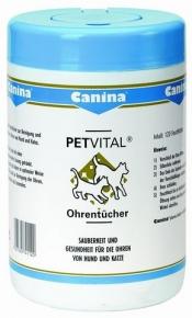 Canina Petvital Ohrentücher 120 Tücher