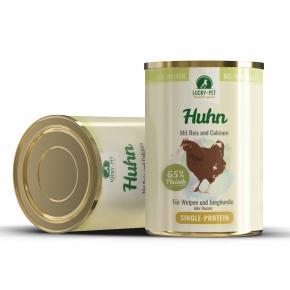 Lucky´s Junior Hühnchen auf Reisflocke mit Leinöl und Calcium Hundefutter 400 g