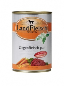 Landfleisch Hundefutter Sensitiv Ziegenfleisch pur mit Biogemüse 400 g