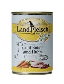 Landfleisch Ente und Huhn mit Biogemüse Katzenfutter 400 g Dose