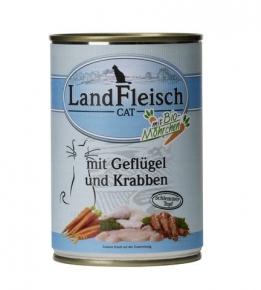 Landfleisch Geflügel und Krabben mit Biogemüse Katzenfutter 400 g Dose