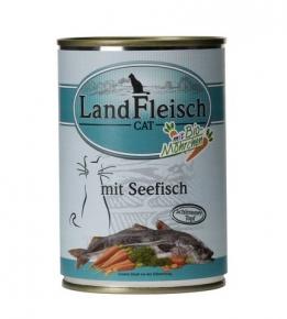 Landfleisch Seefisch mit Biogemüse Katzenfutter 400 g Dose