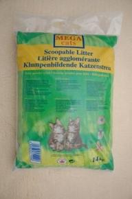 Katzenstreu Mega Cats mit Babypuderduft 14 kg