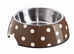Melamin Katzen Napf Punkte Dekor 160 ml ca. 11 cm Durchmesser