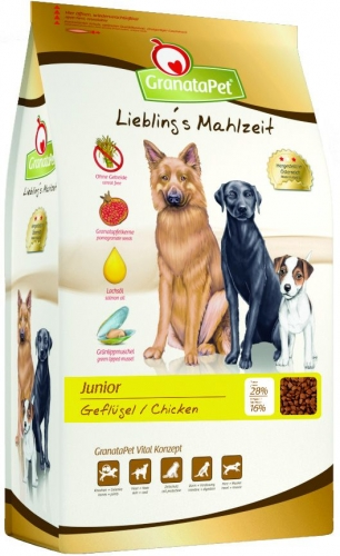 granatapet liebling 39 s mahlzeit junior gefl gel hundefutter 4 kg 184342 4. Black Bedroom Furniture Sets. Home Design Ideas