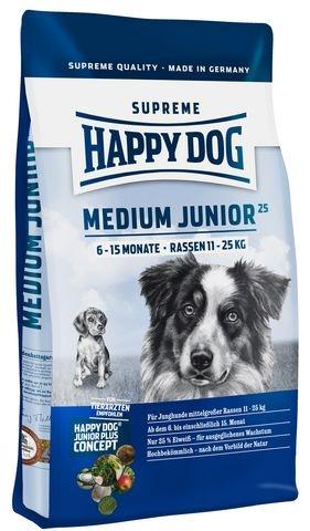 happy dog supreme junior medium junior 25 hundefutter ab 1. Black Bedroom Furniture Sets. Home Design Ideas