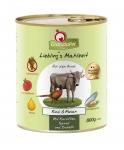 GranataPet Liebling's Mahlzeit Rind & Fasan mit Karotten, Spinat und Distelöl Hundefutter 400 g