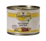 Landfleisch Hundefutter Geflügel und Reis extra mager mit Biogemüse 195 g
