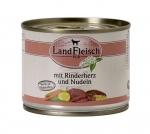 Landfleisch Hundefutter Rinderherz und Nudeln mit Biogemüse 195 g