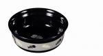 Katzen Keramiknapf schwarz / grau mit Gräten Motiv 0,35 l / ∅ 12 cm