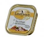 Landfleisch Geflügel und Entenherz mit Biogemüse Katzenfutter 100 g Schale