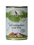 Landfleisch Geflügelherz und Wild mit Biogemüse Katzenfutter 400 g Dose
