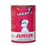 Lucky´s Junior Kalb & Hühnchen mit Kartoffeln, Leinöl und Calcium Hundefutter 400 g